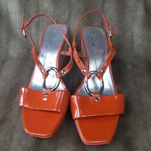 Franco Sarto sandals orange